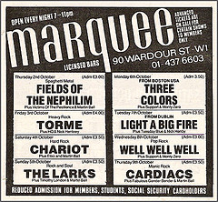 Marqee Ad - October '86